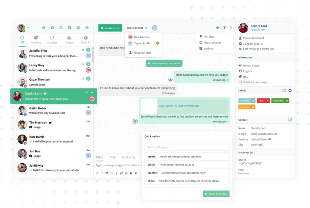 WhatsApp for customer support teams